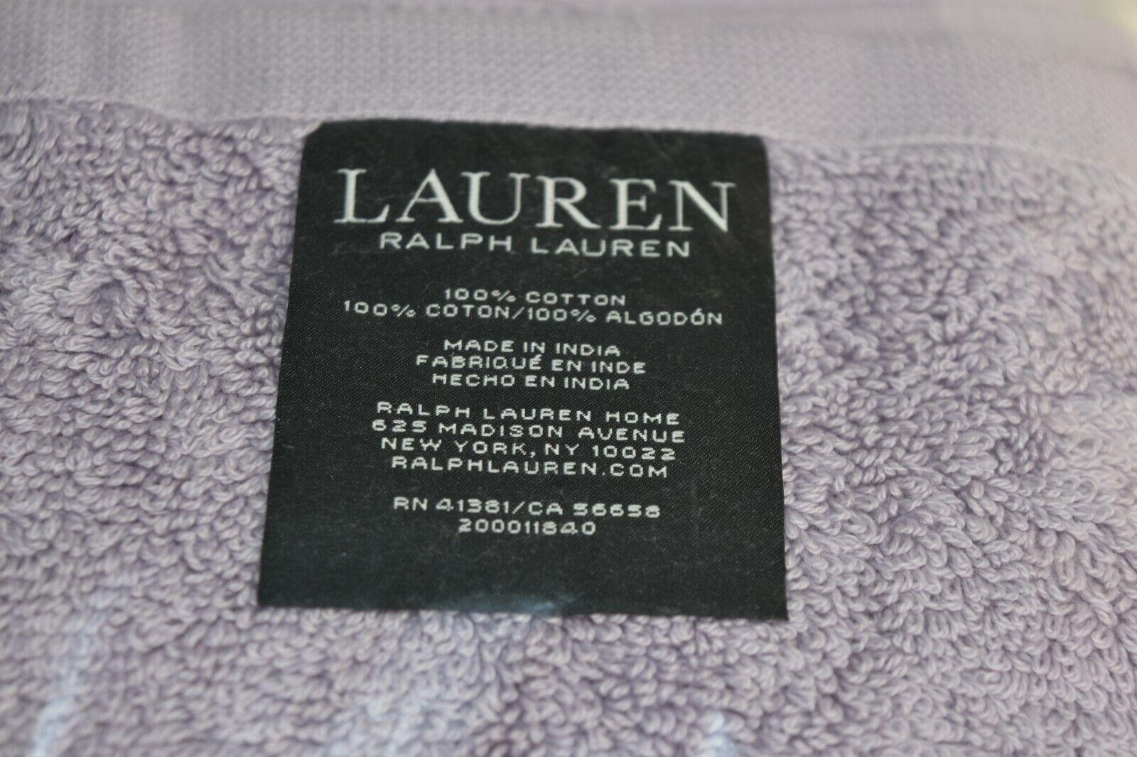 NEW Ralph Lauren Lauren Lauren 7 PC PIERCE Towel SET Wash Hand Bath Sheet APRIL lila 0c4f85