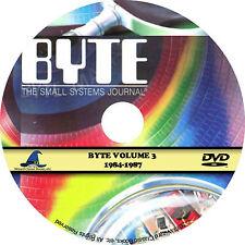 Byte Magazine Volume 3: 1984-1987 DVD 53 issues pdf CD Computer Mac PC