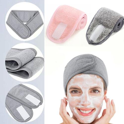Adjustable Facial Hairband Wrap Head Cleaning Cloth Headband Stretch Towel~