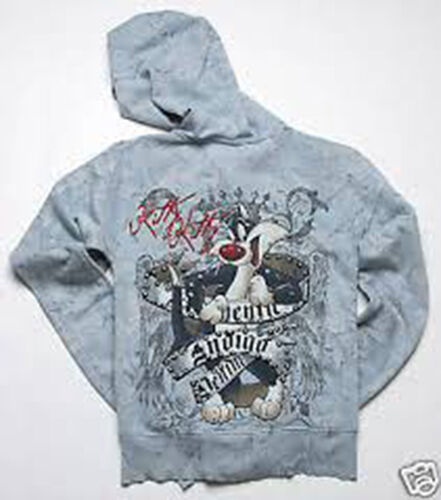 Xs di Blu Bejeweled Couture Toon Sylvester Indigo Hoody CO5xUywqY