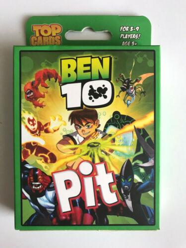 CARTE-TOP Ben 10-Pit CARD GAME 3 a 9 giocatori-età 5