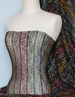 Black Space Dye Stretch Lace Fabric Q167 BK
