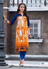 Designer Heavy Cotton Printed Summer Kurti / Kurta / Tunic in XL Size