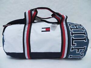 koko kokoelma suuri alennus suosituin Details about Tommy Hilfiger Large Duffle Gym Bag Travel Men handbag  Luggage Blue Denim NEW
