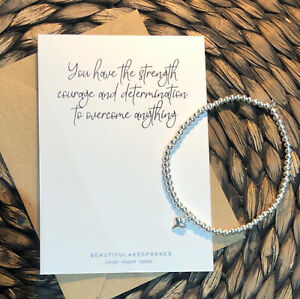 You Have The Strength & Determination To Achieve | Stretchy Stacking Bracelet |