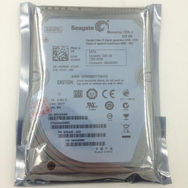 "Seagate Mometus 320 GB ST9320423AS 2.5"" HDD Laptop SATA 7200rpm Hard Drive"