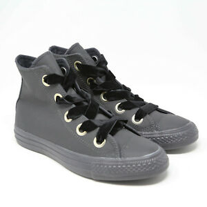 Converse-Womens-Chuck-Taylor-All-Star-Big-Eyelets-Black-561686C-sz-9-Leather