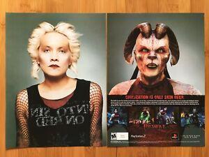 Primal-PS2-Playstation-2-2003-Vintage-2-Page-Poster-Ad-Pop-Art-Print-Promo-Rare