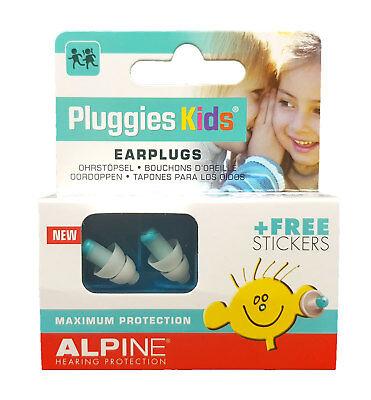 Alpine Pluggies Kids Ohrstöpsel Gehörschutz Für Kinder Inkl. Sticker