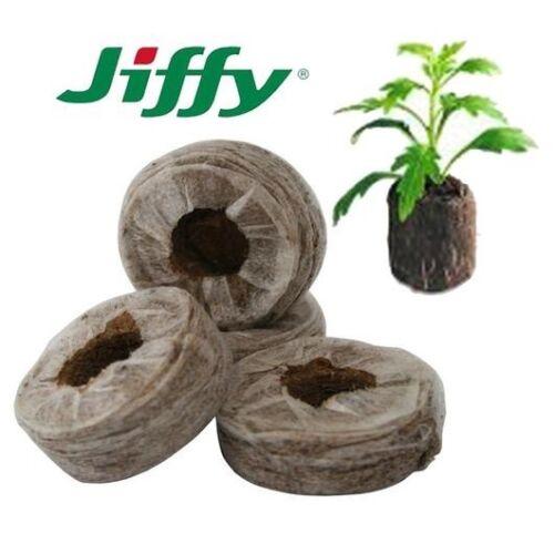 50 x Jiffy-7® 44x42 mm Original Quell-Tabletten Torf-Quelltöpfe Aussaaterde