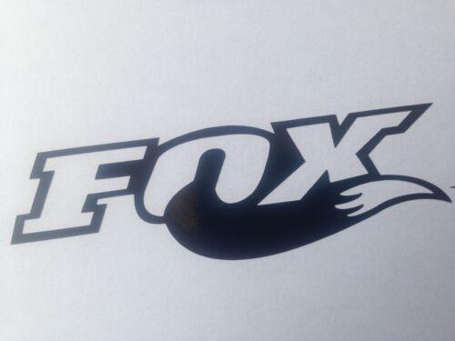 2x grand Fox Shox queue autocollant vinyle autocollant fourches//vélo//frame set brillant noir
