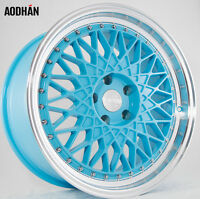 18x8.5 18x9.5 +35 Aodhan Ah05 5x114.3 Blue Wheels Fit Accord Ford Mustang Gt V6 on sale