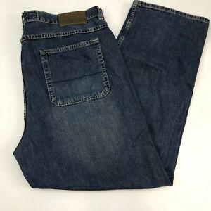 Nautica-Jeans-Mens-40X30-Blue-Straight-Leg-Cotton-Medium-Wash-Zip-Fly-5-Pockets