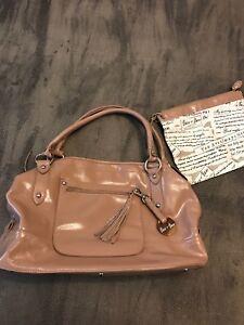 Barr Satchel Handbag Beige