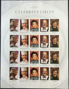Celebrity-Chefs-Sheet-of-20-Forever-Stamps-Scott-4922-26