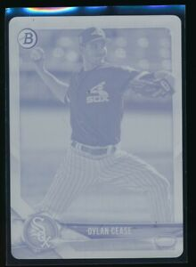 DYLAN-CEASE-2018-Bowman-Draft-MAGENTA-PRINTING-PLATE-1-1-White-Sox-Rookie-RC