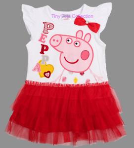 BNWT Peppa Pig cartoon girls ruffle dress new summer party beach