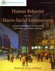 Human Behavior in The Macro Social Environment 4th Edition