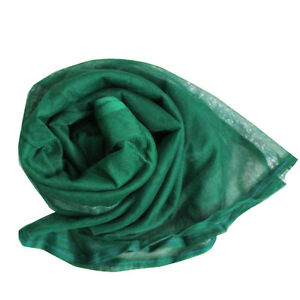 Green-Dress-Neck-Dupatta-Vintage-Women-Wrap-Long-Stole-Indian-Craft-Fabric-Scarf