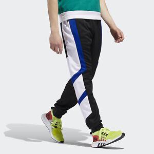 low priced 5ed80 0b5dd Image is loading adidas-Originals-EQT-Block-Track-Pants-New-Black-