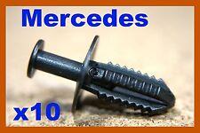10 Mercedes Benz bumper fender panel trim plastic push clip fastener clips