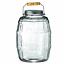 thumbnail 1 - Anchor Hocking 2.5-Gallon Glass Barrel Jar with Lid, Brushed Aluminum, Set of 1