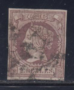 Spanien-1860-61-Gebraucht-Spain-Edifil-56-2-R-Isabel-II-Lot-1