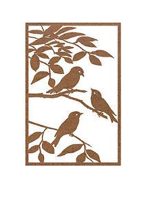 Sparrow-Metal-Garden-Wall-Art-Panel-Two-Australian-Made