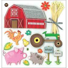 K&COMPANY DIMENSIONAL 3D SCRAPBOOK STICKERS FARM LIFE COUNTRY WESTERN ANIMALS