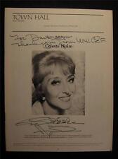 1976 Celeste Holm Just Ask Me Signed Town Hall Theatre Program OS46