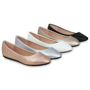 Damen Ballerinas Slip On Abendschuhe Flats