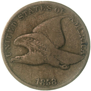 1858-Flying-Eagle-Cent-Large-Letters-Very-Good-Penny-VG