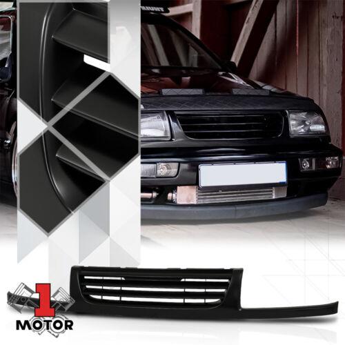 For 1996-1998 VW Jetta MK3 /<HORIZONTAL-BAR/> Black ABS Front Upper Bumper Grille