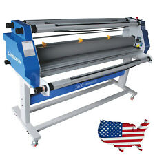 60 Full Auto Take Up Low Temp Large Format Hot Cold Roll Laminator Machine Usa