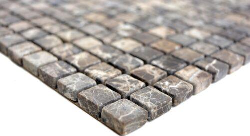 Mosaik Fliese Marmor Naturstein beige Castanao Küche Wand Bad WC 38-1313/_b
