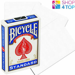 BICYCLE-BLANK-KEIN-GESICHT-ZURUCK-GANZE-WEISS-SPIELKARTEN-KARTEN-TRICKS-NEU-USA