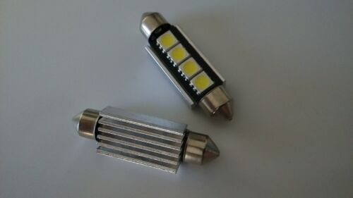 11X White 39mm Festoon LED 4SMD Dome License Plate Light Bulbs DE3425 6418 C5W
