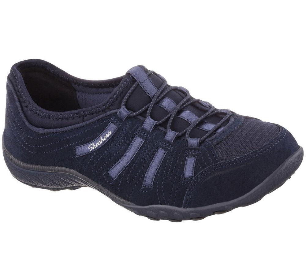 NEU SKECHERS Damen Sneakers Turnschuh Memory Foam BREATHE-EASY-BIGBUCKS Blau