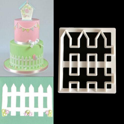 1pc Fence Plastic Fondant Cutter Cake Mold Fondant Cupcake Decorating Supply