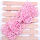 Girl Kids Lace Bowknot Stretch Hairband Headband Turban Knot Head Wrap Decor