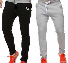 Mens Sport Pants Long Trousers Tracksuit Fitness Workout Joggers Gym new