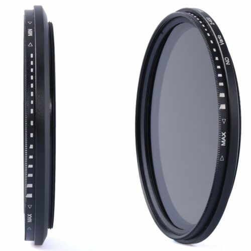 Variable ajustable 55mm Slim Filtro ND-ND2-ND8-ND16 a ND400