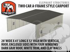 Two Car Metal Carport - 28' x 41' x 12'