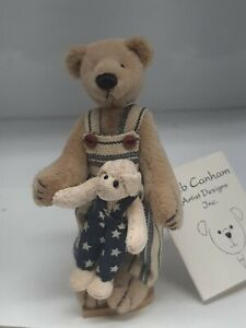 Vintage Deb Canham Artist Teddy Bears Tom n Mr. P 1996 The Country Collection