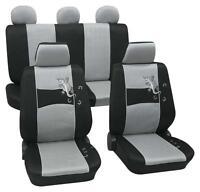 Silver & Black Stylish Car Seat Cover Set - Holden Barina Sedan 2011 To 2015