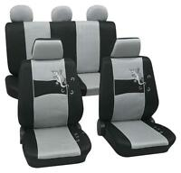 Silver & Black Stylish Car Seat Cover Set - Holden Vectra Js Hatchback 1996-2002