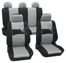 Silver & Black Stylish Car Seat Cover Set - Peugeot 206 2003 Onwards - Washable