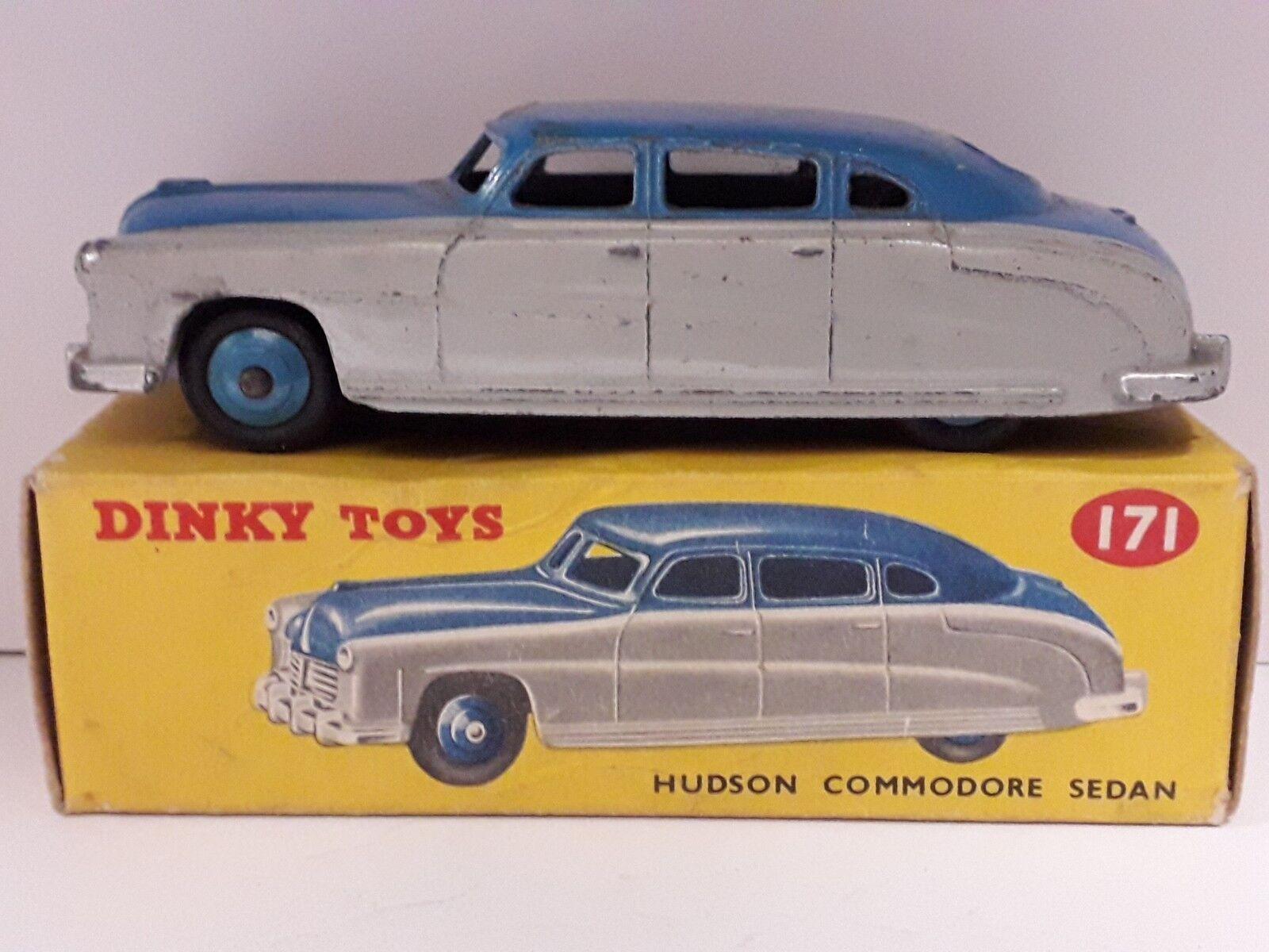 Boxed dinky spielzeug 171 hudson commodore limousine hellgraue lower body & Blau.