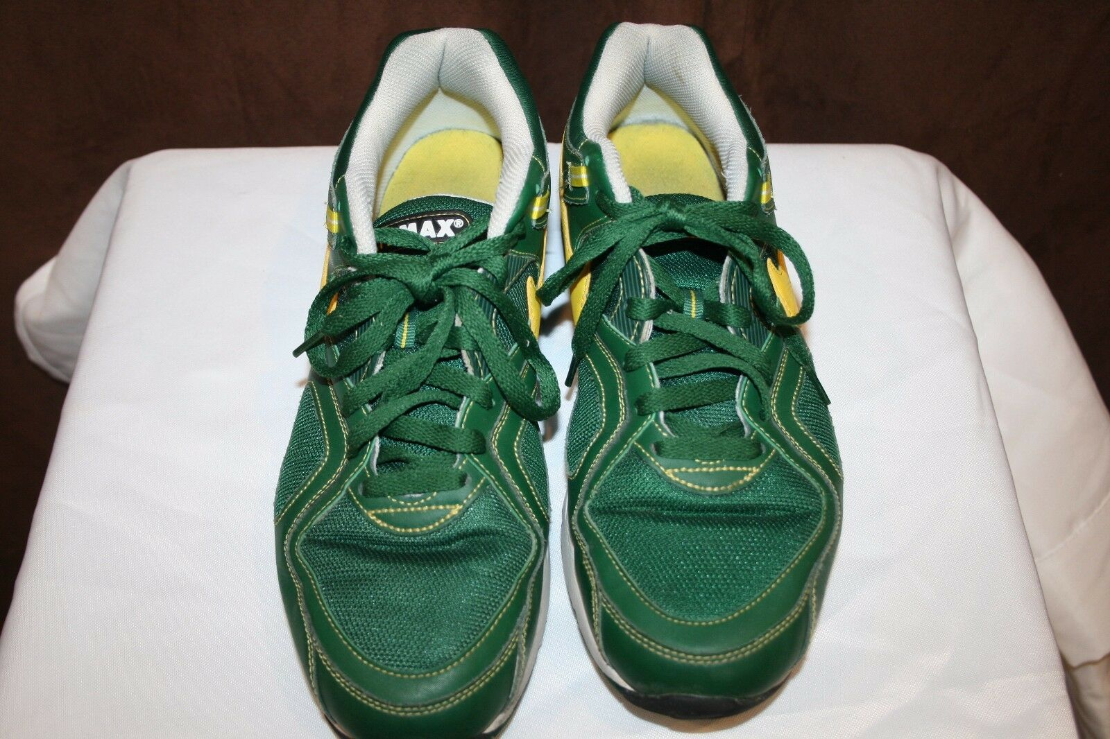 Nike Air Max Sneaker shoes Mens Size US 12 Green Yellow Swoosh