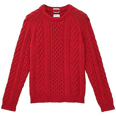 NWOT Gant Rugger Cable Sweater Crew S/S '14 Collection size M, retail $200